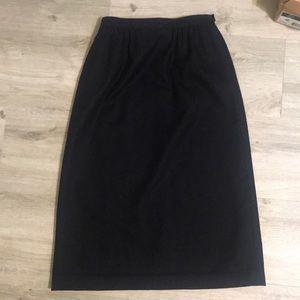 VTG Black Pendleton pencil Skirt